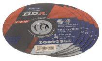 Vágókorong 125x1,6 mm Inox BDX