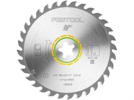 Festool Univerzális körfűrészlap 190x2,6FF W32