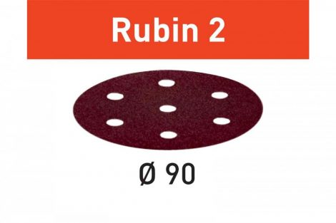 FESTOOL Csiszolópapír Rubin 2 STF D90/6 P180 RU2/50 db-os csomag