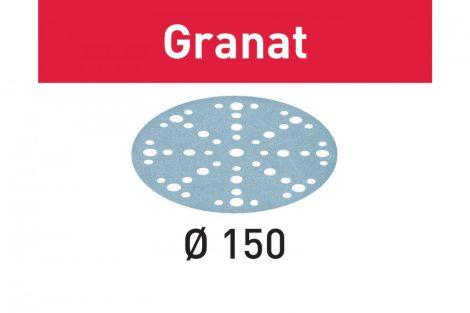 FESTOOL Csiszolópapír Granat STF D150/48 P60 GR/10 db-os csomag