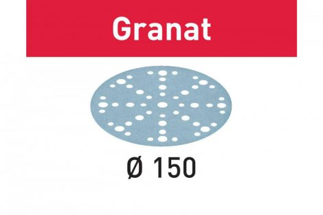 FESTOOL Csiszolópapír Granat STF D150/48 P220 GR/100 db-os csomag