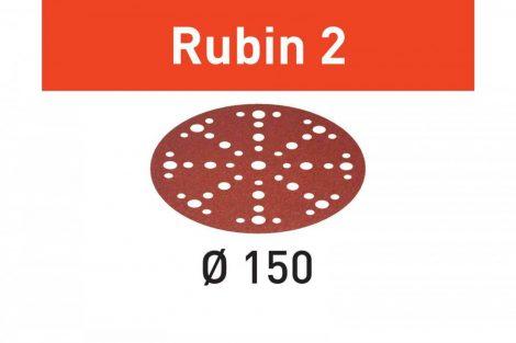 FESTOOL Csiszolópapír Rubin 2 STF D150/48 P150 RU2/10 db-os csomag