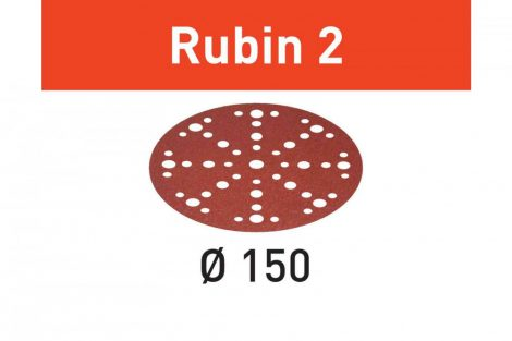 FESTOOL Csiszolópapír Rubin 2 STF D150/48 P150 RU2/50