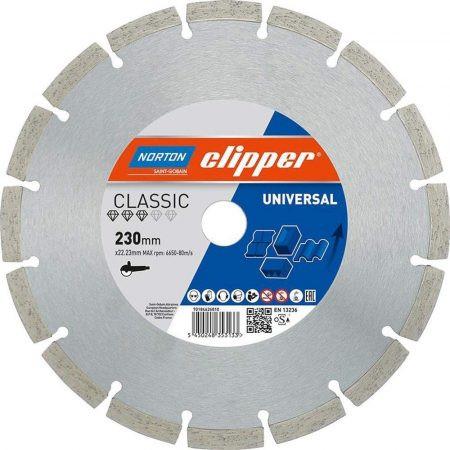 Gyémánttárcsa -180X25,5/22,23 NORTON CLIPPER-PRO UNIVERZÁLIS