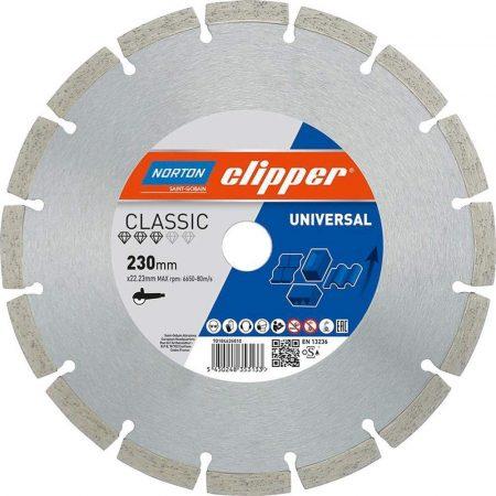 Gyémánttárcsa 125X22.23-1X1.8  NORTON CLIPPER-CLASSIC UNIVERSAL