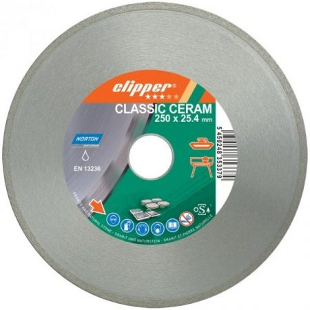 Gyémánttárcsa 250X25.4-7X1.7  NORTON CLIPPER-CLASSIC CERAM