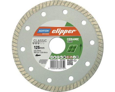 Gyémánttárcsa -115X22.23-8X1.7 NORTON CLIPPER-CLASSIC CERAM TURBO